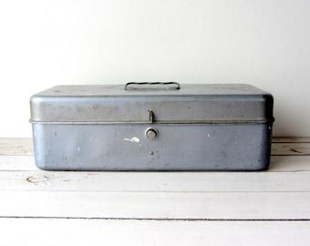 Vintage / Industrial Metal Tool Box / 1950s