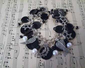 Celestial Charm Bracelet, boho jewelry, gypsy jewelry, hippie jewelry, bohemian jewelry, moroccan, new age, metaphysical, bohemian bracelet