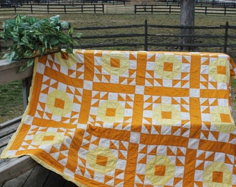 Quilt Vintage  Decor Yellow/Gold
