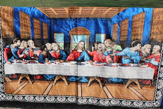 The Last Supper P Amp C Welvet Wall Hanging Tapestry Large