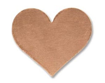 Copper Heart Stamping Blank- Approx. - 16.9 x19.7  approx. .6 inch x .75 inch  mm 24g. You get 5