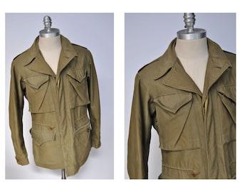 vintage military parka army coat jacket wwII ww2 m-1943 m1943 field coat