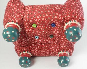 Beaded Edge Pincushion Chair