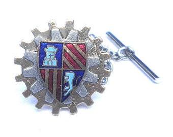 SALE, Steampunk Family Crest Tie Tack