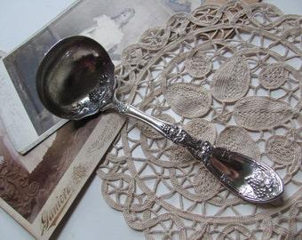 Antique Vintage Silver Plate Gravy Ladle - La Vigne Pattern 1908