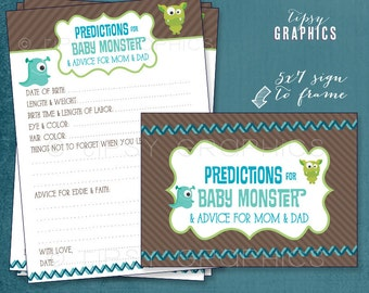 Little Monster. Baby Shower Printable Advice Cards. By Tipsy Graphics. Madlib. AdLib. Baby Wishes. Baby Statistics.