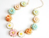 Pastel Flower Necklace For Girls