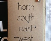 north. south. east. west. BLANK CARD SET. arrows. directions. map. compass. not all those who wander are lost.