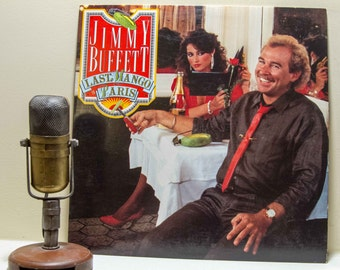 "ON SALE Jimmy Buffet Vinyl Record Album 1980s Parrothead Light Rock Reggae Pop LP ""Last Mango in Paris""(1985)"