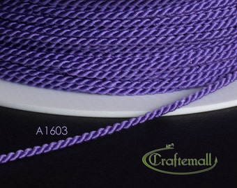 Soutache cord - twisted soutache cord 1.5mm - light purple (A1603) - 2 meters