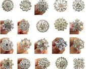 20pc  Mixture of Crystal Rhinestone Buttons - CS2 - FREE SHIPPING Worldwide