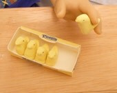 Miniature Dollhouse Easter Marshmallow Chicks Set in 1:3 scale AG American girl dolls 18 inch
