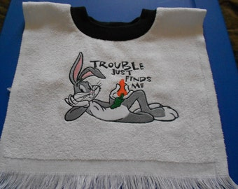 Bugs Bunny over the head bib