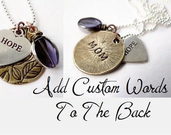Add Words To The Back of Your Necklace.  Personalization Charge.