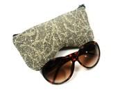 Eyeglass Case, Sun glass Case, Sunglass Case, Zippered Eye Case - Nubby Fabric