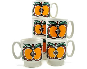 Apple Mugs, Set of  2