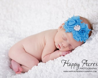 Turquoise headband....baby headband...infant headband....newborn headband...toddler girl