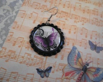 Another Purple Butterfly Earrings