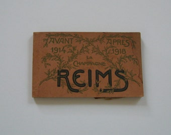 Antique Postcards Reims France World War I Collectible Unused Detachable Before 1914 After 1918