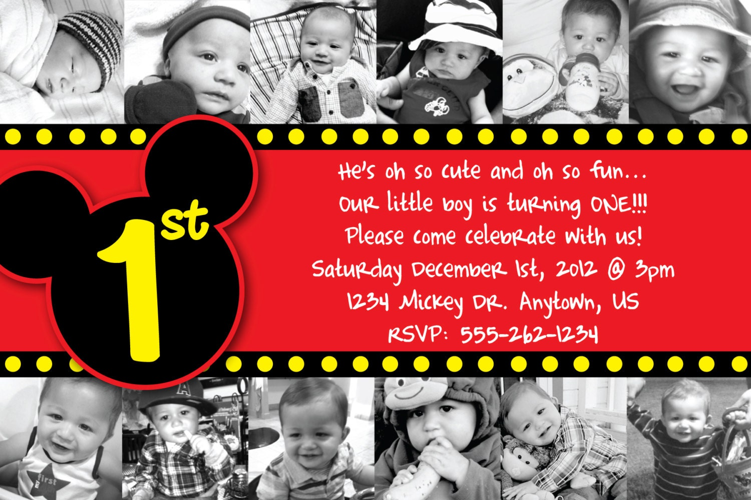 Birthday Invitation Card Mickey Mouse with great invitations design
