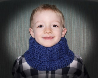 Ribbed Cowl pdf PATTERN (digital download), child size, adult size, neck warmer, scarf to crochet