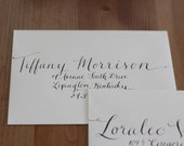 Vintage Large Custom Calligraphy Wedding Invitations or Save the Date Envelope Hand Addressing ON SALE