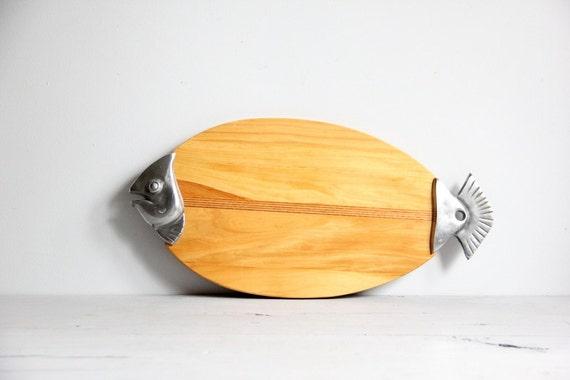vintage fish cutting board