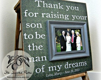 ... gift wedding gift for parents parents thank you gift picture frame