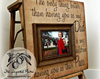 fathers day gift personalized picture frame 16x16 dad daddy papa grandpa grandfather grandparent