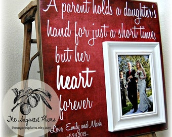 Wedding Thank You, Mother of the Bride, Father of the Bride Gift, Parents Wedding Gift, Mother of the Bride Frame, A Parent Holds 16x16