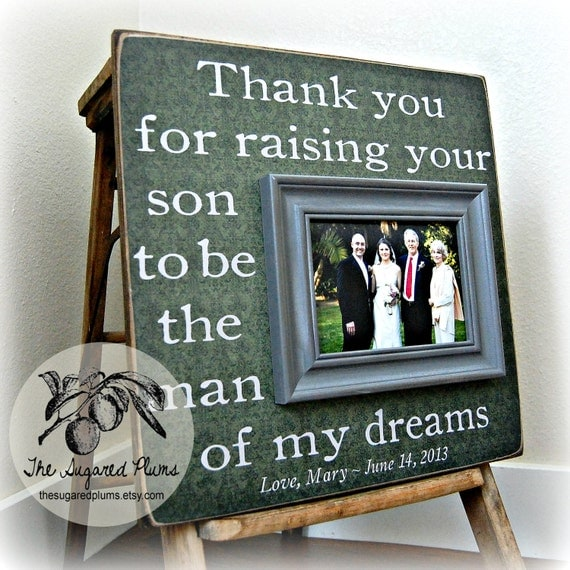 Wedding Gifts For Parents Who Have Everything : ... Gift, Wedding Gift For Parents, Parents Thank You Gift, Picture Frame