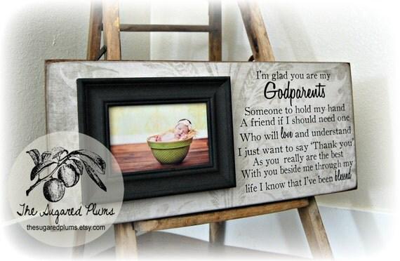 Gift For Godmother Godmother Gift Mothers Day Gift: Baptism Gift For Godparents Christening Gift Godparents