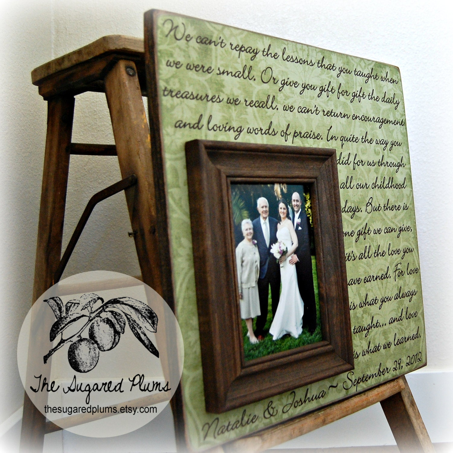 Thank You Gift For Parents Personalized Picture Frame 16x16