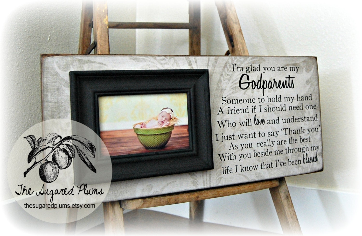 Baptism Gift for Godparents Christening Gift Godparents