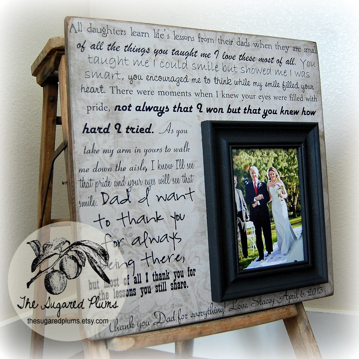 Father Of The Bride Wedding Gifts: Parent Wedding Gift Father Of The Bride Personalized Picture