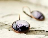 Queensboro Bridge From Afar Photo Jewelry Earrings, NYC Copper Wearable Art