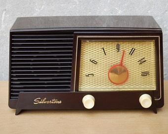 Sears Silvertone Radio Brown Bakelite from 1954