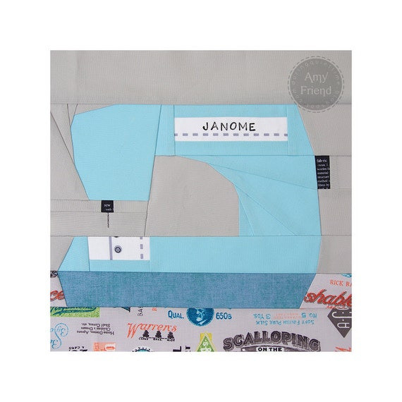 paper pieced sewing machine pattern