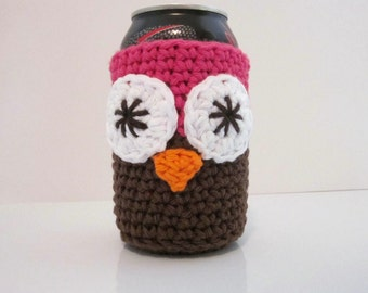 Owl Beer Cozy, Can Cozy