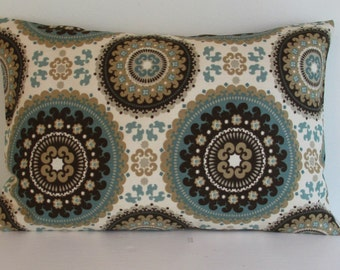 SALE  12 x 16 OR 12 X 18  Lumbar Pillow Richloom Indoor Outdoor  Fabric Both Sides