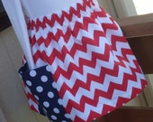 Buy Any 2 Skirts and Get 1 FREE, Chevron and Polka Dots Skirt, Size 2, 3, 4, 5, 6, 7, 8, 9, 10, and 12
