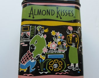 SALE - Antique Collectible TIN Bartons Almond Kisses valentine