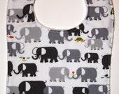 Elephant organic boutique bib