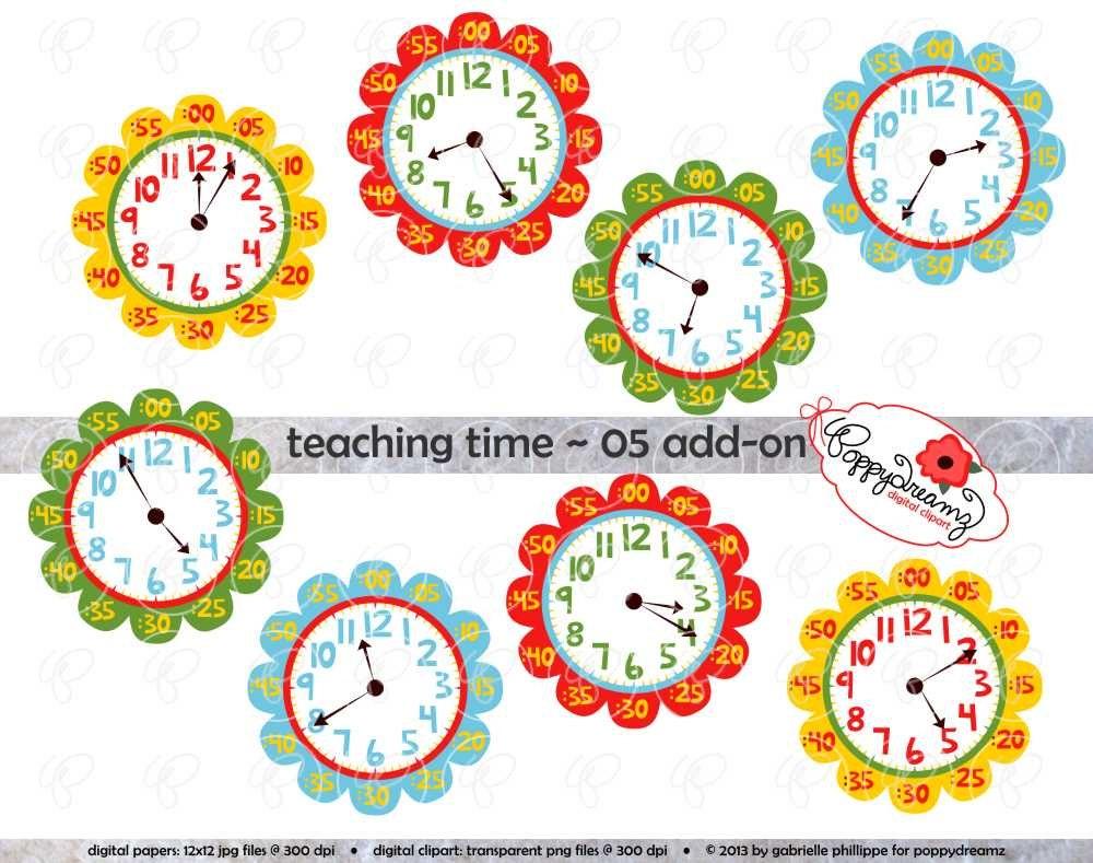 Teaching Time 05 ADD-ON Clipart: Digital Clip Art Pack 300