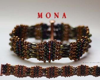 Beadweaving Bracelet Pattern - Mona