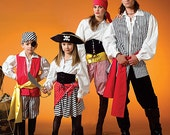 McCall's 4952 - OOP Out of Print - Women, Men, Pirate Costume Collection - Sizes 34 - 48 inches