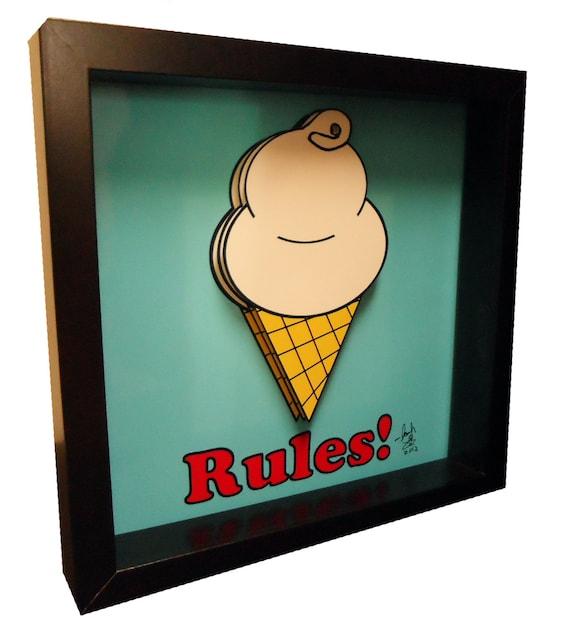 kitchen decor ice cream print funny kitchen art ice cream art. Black Bedroom Furniture Sets. Home Design Ideas