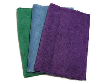 Microfiber Swiffer Sweeper Pads- Set of 3- COOL Color Combo- Refill- Reusable- Ecofriendly