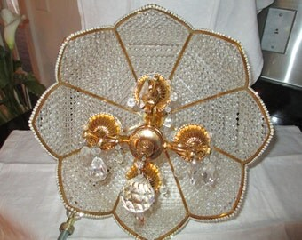 Chandelier Hollywood Regency Glamour c.1970s by Gatormom13 JUST REDUCED