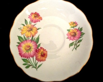 Royal Vale English Bone China, Saucer, May Be Cosmos Flower -- Lovely